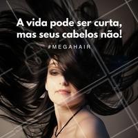 Venha ter aquele cabelo longo dos seus sonhos. Entre em contato conosco! #megahair #extensaocapilar #cabelos #ahazou #diva #autoestima #salaodebeleza