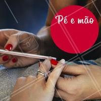 Aproveite essa promoção especial de pé + mão e vem ficar linda! 💅 #esmalteria #ahazou #unha #manicure