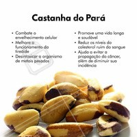 Olha quantos benefícios, inclua a castanha-do-pará na sua alimentação! #alimentaçãosaudavel #nutrição #ahazou #castanhadopara #castanha #bemestar #saude