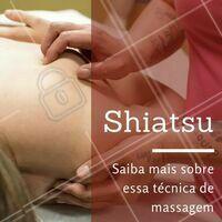 """O Shiatsu é uma técnica de massagem oriental, mas vai muito além disso. Nessa técnica, o terapeuta deve analisar o cliente levando em conta todo o contexto de sua vida, seja pela análise da sua rotina, alimentação e estilo de vida. Com o Shiatsu, é possível estimular  pontos de energia nos canais de energia da pessoa, fazendo com que o próprio corpo ative a circulação do """"Ki"""" e promovendo o bem estar. ;) #massagem #shiatsu #ahazou #esteticacorporal #bemestar #massagemshiatsu #5ptz"""