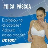 Quem resiste a um chocolate na Páscoa, né? Com o nosso pacote Detox, você pode aproveitar a Páscoa sem se preocupar com gordurinhas extras! Feche já o seu pacote ☎️ #pascoa #ahazou #esteticacorporal #corporal