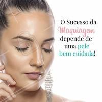 Para que uma maquiagem fique perfeita, é importante ter uma pele cuidada e tratada com bons produtos, mas esse zelo deve ser diário e não somente às vésperas de um evento #estetica #ahazou #esteticafacial #maquiagem #beleza #makeup #autoestima #tratamentofacial