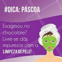 Quem resiste a um chocolate na Páscoa, né? Com a limpeza de pele, você pode aproveitar a Páscoa sem se preocupar com as impurezas que podem aparecer no seu rosto! Agende já seu horário ☎️ #pascoa #ahazou #esteticacorporal #corporal