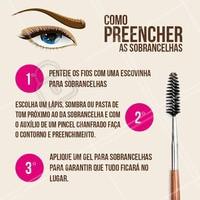 Aprenda em como preencher as sobrancelhas sozinha, em apenas cinco minutos!  #preechimento #ahazou #sobrancelha