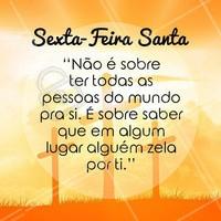 Abençoado Dia da Paixão de Cristo para você e sua família! #sextafeirasanta #paixãodecristo #paixão #paz #reflexao #ahazou