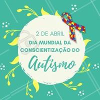 Hoje é Dia da Conscientização do Autismo! Combater o preconceito e respeitar faz parte da consciência 😍 #autismo #diadaconscientizaçaoautismo #ahazou
