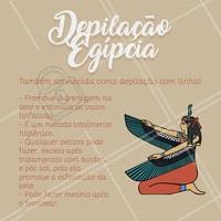 Conheça os benefícios da depilação egípcia, mais conhecida como depilação com linha.  #depilaçãoegípcia #ahazou #estetica