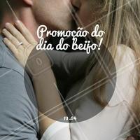 Crie sua promoção do dia do beijo.  #promoção #ahazou #diadobeijo