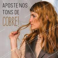 Pode confiar: o tom de cobre está com T-U-D-O! ;) #cabelo #ahazou #ruivo #cobre