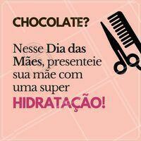 Sua mãe merece! Esqueça o chocolate e corre pra presentar sua mãe com uma hidratação poderosa 👸💕 #diadasmaes #ahazou #hidratacao #cabelo
