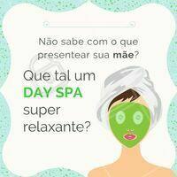 Sua mãe merece relaxar no seu dia especial! Presenteie sua mãe com um DAY SPA 😍 #spa #ahazou #diadasmaes #estetica