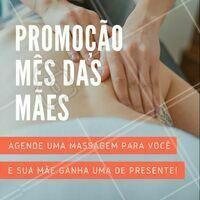 Que tal? Venha fazer uma massagem e dê a outra de presente pra sua mãe! 💕 #massagem #ahazou #esteticacorporal #diadasmaes #mesdasmaes