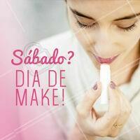 Sábado é dia de ficar mais linda! Já agendou seu horário? ☎️ #maquiagem #ahazou #makeup #sabado