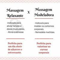 Compreenda as principais diferenças entre massagem relaxante e massagem modeladora. #massagem #ahazou #relaxante #modeladora