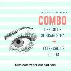 Seu olhar merece esse combo! 😱 #designdesobrancelha #ahazou #extensaodecilios