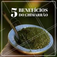 Essa simples bebida de erva mate pode trazer muitos benefícios para sua saúde, confira cinco benefícios: 1. Ele é antioxidante, 2. Ele reduz o colesterol, 3. Ele ajuda no emagrecimento, 4.Ele estimula a digestão, 5.Ele turbina o cérebro. Incrível né?  #diadochimarrão #chimarrao #ahazou #nutrição #saúde
