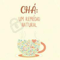 Os chás trazem diversos benefícios para nós. Qual seu chá favorito? Comenta aqui embaixo! #cha #ahazou #saude