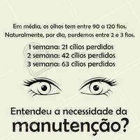 Por isso a manutenção da extensão de cílios deve ser feita a cada 2-3 semanas! 😉 #extensaodecilios #ahazou #cilios #manutençao