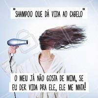 Fato! 🤣😅🤣😅 Se você sofre com seus cabelos, venha aqui em nosso salão ficar linda! #salaodebeleza #ahazou #beleza #autoestima #shampoo #cabelos #cabeleireiro