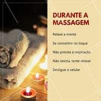 Dicas para durante a massagem, relaxe e aproveite o momento! #massagem #relaxamento #bemestar #ahazou #saude #massagemrelaxante
