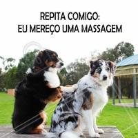 """Responda """"mereço"""" se você realmente merece uma massagem! #massagem #massagemrelaxante #massoterapia #relaxamento #bemestar #ahazou #saúde"""