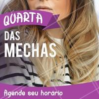 Aproveite nossos precinhos especiais de quarta-feira e venha fazer suas mechas! 💇 #mechas #ahazou #loiro #cabelo #quartafeira