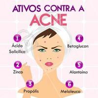 A acne é uma preocupação de muitas pessoas. Olha só alguns ativos que ajudam muito na hora de combater esse problema! #acne #ahazou #espinhas #esteticafacial #cuidadoscomapele