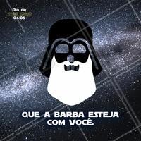 Dia do Star Wars, que a barba esteja com você!  #starwars #ahazou #diadestarwars #starwarsday #barba