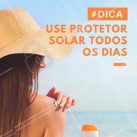 O uso diário do protetor solar previne o envelhecimento precoce da pele, além de evitar o aparecimento de manchas e possíveis doenças de pele! Cuide da sua pele com proteção solar :) #protetorsolar #ahazou #esteticafacial #cuidadoscomapele