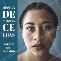 Agende já o seu horário!  #designdesobrancelha #ahazou #sobrancelha