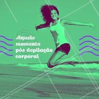 Com a depilação em dia a felicidade é garantida.  #depilação #estética #felicidade #limpeza #leve #ahazou