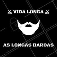 Que as barbas longas recebam a atenção que merecem. #barba #ahazou #barbearia #barbalonga