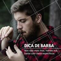Você tem algum cuidado especial com a sua barba nos dias mais frios? Conta para nós nos comentários. #barbearia #barba #ahazou #autoestima #dicasmasculina #óleoparabarba