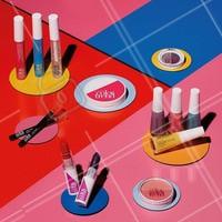 Guenta coração que AVON ColorTrend tá de cara nova! A linha mais completa que você respeita tá cheia de produtos bapho e com muita cor nova! Que tal sair de casa sem medo de ousar? #EaiTaPronta? #ahazouavon #colortrend #ahazou #avon #maquiagem #makeup  #PraCegoVer Em um fundo quadriculado colorido em azul, rosa e vermelho, vemos alguns produtos da nova AVON ColorTrend. Mácara alongadora para Cílios à Prova D'água, Máscara 2 em 1 Volume e Mácara Incolor. Lápis para Sobrancelha nas cores Moreno Castanho e Universal. Pó Compacto. Duo de Sombra Céu Azul. Esmaltes Brilho e Longa Duração nas cores Jujuba, Amore Mio, Vibrações e Amarelinha. Batons Matte nas cores Rosa Claro e Violeta. E Blush em Pó Compacto Coleção Rosado Sincero.