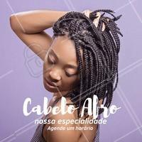 Somos especialistas em cuidados e técnicas em cabelos afro. Agenda já o seu horário!  #cabeloafro #ahazou #cuidadosafro #afro #blackpower