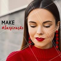 Olha essa make perfeita, aquele batom vermelho que é essencial. #batom #ahazou #maquiagem #makeup #inspiração