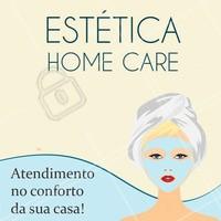 Agende já seu horário e fique linda, saudável e bem cuidada sem sair de casa! 💆 #esteticafacial #esteticacorporal #ahazou #homecare #atendimentoadomicilio