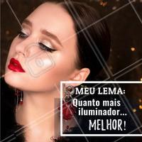 Quem aí também é assim? Iluminador nunca é demais! 😍 #iluminador #ahazou #maquiagem #makeup