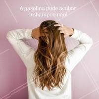 A gasolina acaba, mas o cabelo precisa estar pleno!  #greve #ahazou #grevegasolina #shampoo #cabelo #haircare