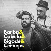 Todos nossos clientes é digno de um melhor cuidado e nossa barbearia tem cerveja para cada cliente! #barbearia #ahazou #barbaterapia #barbershop #cerveja #homem