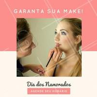 Tá esperando o que pra agendar seu horário e garantir aquela make linda pro Dia dos Namorados? 😍💕 #diadosnamorados #ahazou #maquiagem #makeup #make