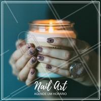 Gosta de arte nas unhas? Nós fazemos! Agende já o seu horário! 📱 (xx) xxxxxx-xxxx #manicure #unhas #ahazou #nailart #agende