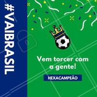 Vem curtir a Copa com a gente enquanto você fica mais linda! 😍 #copa #brasil #ahazou #futebol #hexa #hexacampeao #vaibrasil #ahazounacopa