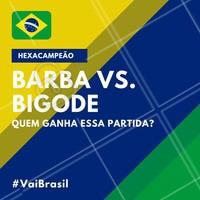 E aí, qual a sua escolha? 🤵 #copa #brasil #ahazou #futebol #hexa #hexacampeao #vaibrasil #barba #bigode #ahazounacopa