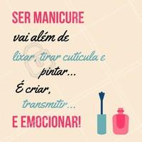 Parabéns à todas as profissionais que tem o dom de emocionar com sua arte! Feliz Dia da Manicure 💕 #manicure #unha #ahazou #diadamanicure