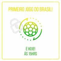 Hoje é o primeiro dia de jogo do Brasil na copa contra a Suíça, ás 15 horas da tarde. Vamos torcer pelo nosso país juntos!🎉🎉🎉 #copadomundo2018 #coparussia #ahazounacopa #vemhexa #vaibrasil #ahazounacopa