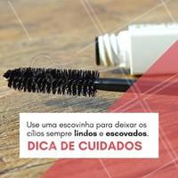 Não esqueça de usar uma escovinha (sempre limpa) para escovar sua extensão de cílios diariamente! 😉 #extensaodecilios #ahazou #alongamentodecilios #cilios