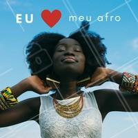 Ame seu cabelo! Comenta aqui se você ama muito seu afro 💖 #afro #cachos #cabelocacheado #crespo #ahazou #cabelo #cabeloafro