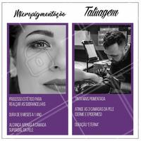 Você sabe a diferença entre micropigmentação e tatuagem? Confira algumas diferenças entre os dois processos. #micropgmentação #ahazousobrancelhas #estética #ahazou #sobrancelhas