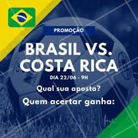 Sugestão de legenda: Os X primeiros que acertarem a pontuação do jogo Brasil vs. Costa Rica ganha (escrever aqui os serviços que você irá premiar)! Vamos jogar? ️⚽️ Comente aqui sua aposta! 😉 #brasil #ahazou #copa #jogodobrasil #ahazounacopa